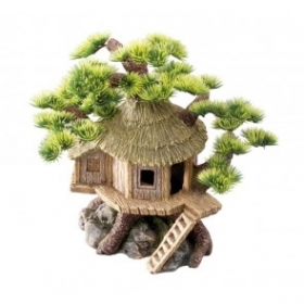 CABAÑA CON BONSAI